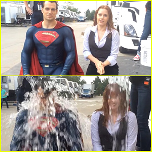 Henry Cavill Wears His Superman Costume for Ice Bucket Challenge - Watch Now!