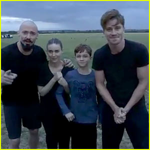 Hugh Jackman, Rooney Mara, & Garrett Hedlund Made an Epic Ice Bucket Challenge Video for 'Pan'!
