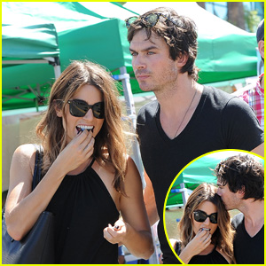 Ian Somerhalder Adorably Kisses Nikki Reed's Forehead at the Farmers Market
