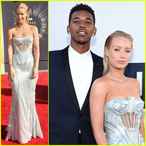 Iggy Azalea Shines at MTV VMAs 2014 with Boyfriend Nick Young