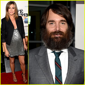 Jennifer Aniston & Heavily Bearded Will Forte Attend 'Life of Crime' Premiere!