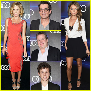 Julie Bowen & Sarah Hyland Heat Up the Audi Emmys Party with their 'Modern Family' Leading Men!