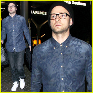 Justin Timberlake Jets Out of LAX for the UK Leg of His '20/20 Experience World Tour'
