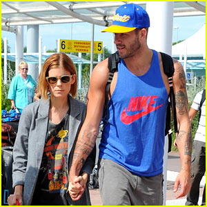 kate mara holds hands with bff johnny wujek after split