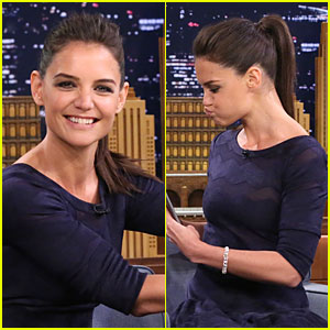 Katie Holmes Makes Weird & Funny Faces on 'Tonight Show' - Watch Now!