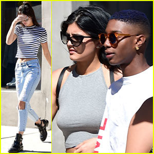 Kendall & Kylie Jenner Show Off Their Midriffs in West Hollywood!