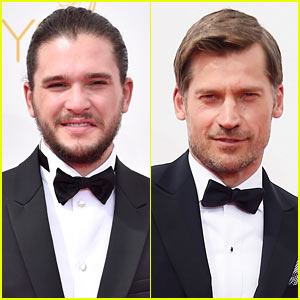 Kit Harington & Nikolaj Coster-Waldau Take Their 'Thrones' on Emmys 2014 Red Carpet