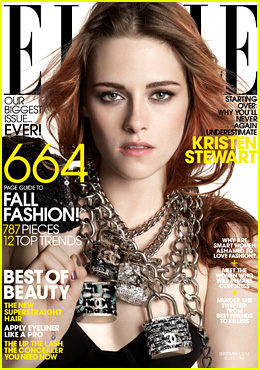 Kristen Stewart Graces the Cover of 'Elle' Magazine's September 2014 Fashion Issue