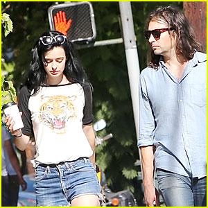 Krysten Ritter & Boyfriend Adam Granduciel Keep Their Distance During Los Angeles Stroll