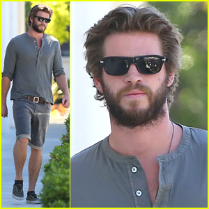Liam Hemsworth Sports Full Beard For More Furniture Shopping