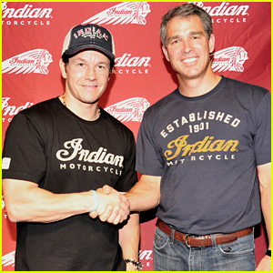 Mark Wahlberg Takes a Break From 'Ted 2' to Unveil Indian Motorcycle!
