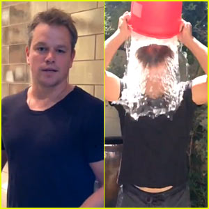 Matt Damon Does Ice Bucket Challenge Using Toilet Water!