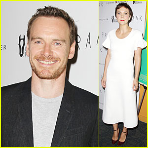 Michael Fassbender & Maggie Gyllenhaal Introduce 'Frank' to NYC!