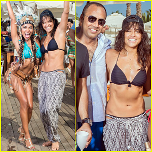 Michelle Rodriguez Climbs a House Like A Ninja & Succeeds - See the Video!