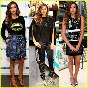 Nina Dobrev Wore Five Different Outfits in One Day for 'Let's Be Cops' Promo!