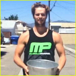 Patrick Schwarzenegger Accepts JJ's Ice Bucket Challenge - Watch Now!
