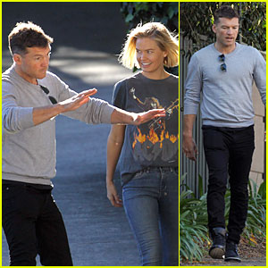 Sam Worthington Shows Kung Fu Moves to Lara Bingle