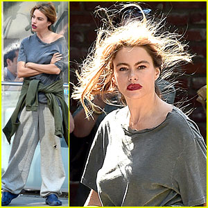 Sofia Vergara Has a Bad Hair Day for 'Modern Family' Scene