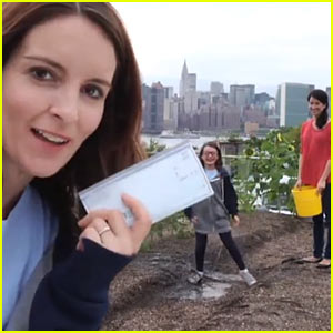 Tina Fey Lets Daughter Alice do Ice Bucket Challenge in Her Place