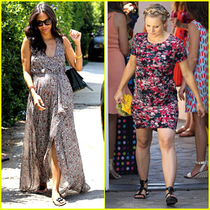 Zoe Saldana & Kristen Bell Have the Pregnancy Glow at Producer Jennifer Klein's Day of Indulgence