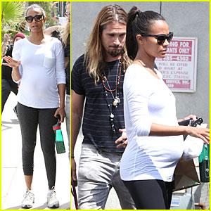 Pregnant Zoe Saldana Preps For Baby at Mom's the Word