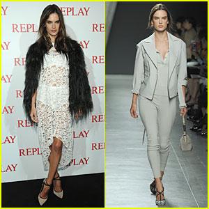 Alessandra Ambrosio: Fashion 'Replay' During Milan Fashion Week!