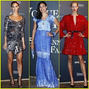 Bar Refaeli, Rosario Dawson & Karolina Kurkova Are Fierce Ladies at 'Vogue Italia's 50th Anniversary!