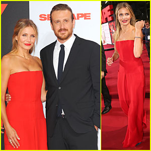 Cameron Diaz Rocks Smokin' Hot Red Jumpsuit at 'Sex Tape' Germany Premiere