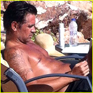 Colin Farrell Goes Shirtless & Soaks Up the Sun in Greece!