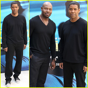 Denzel Washington Joins Director Antoine Fuqua at 'Equalizer' Paris Photo Call!