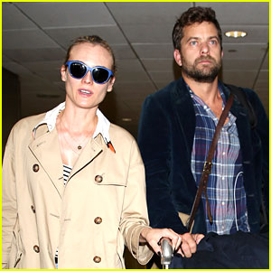 Diane Kruger & Joshua Jackson Head Home as NYFW Ends