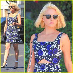 Dianna Agron Hits Recording Studio For 'Glee'!