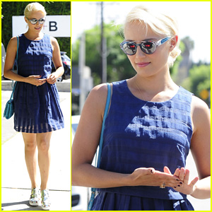 Dianna Agron Soaks Up Some Sun at Gracias Madre Lunch
