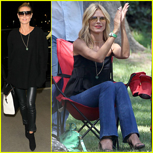 Heidi Klum Jets Back to NYC After Spending Quality Time with Kids in L.A!