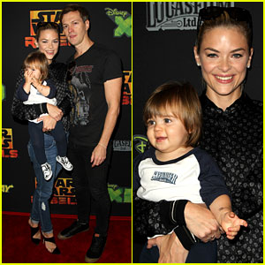 Jaime King Brings Son James Knight to 'Star Wars Rebels' Event