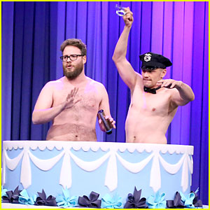 James Franco & Seth Rogen Go Shirtless For Jimmy Fallon's 40th Birthday - Watch Now!