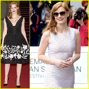 Jessica Chastain Glams Up For 'Disappearance of Eleanor Rigby' Premiere in Spain
