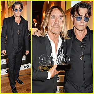 Johnny Depp Presents Icon Awards at GQ Men of the Year Awards 2014