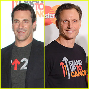 Jon Hamm & Tony Goldwyn Are Happy to Stand Up to Cancer 2014