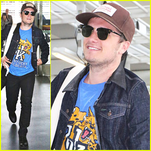 Josh Hutcherson Leaves Toronto After 'Paradise Lost' Premiere With Claudia Traisac