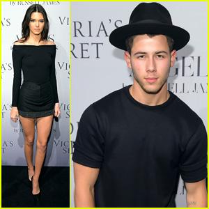 Kendall Jenner & Nick Jonas Mingle at Victoria's Secret Event