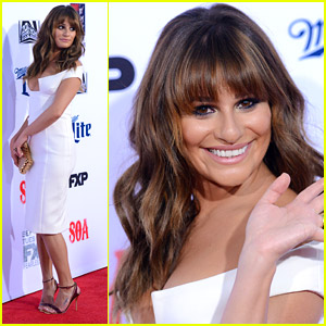 Lea Michele Keeps It White Hot At 'Sons Of Anarchy' Premiere