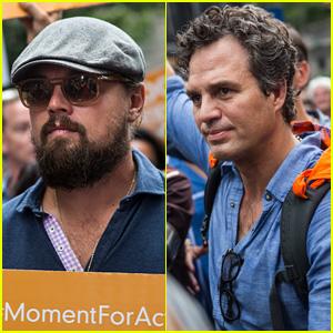 Leonardo DiCaprio & Mark Ruffalo March for Climate Change