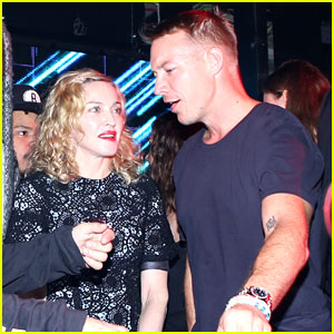 Madonna Parties with Diplo at Jeremy Scott NYFW After Party