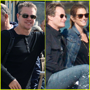 Matt Damon, Cindy Crawford, & Their Significant Others Arrive in Venice for George Clooney's Wedding!