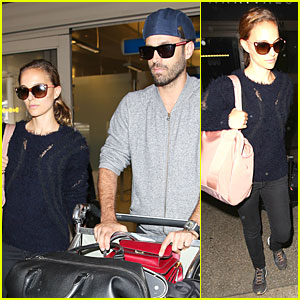 Natalie Portman & Husband Benjamin Millepied Hide Behind Sunglasses at LAX