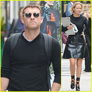 Sam Worthington & Girlfriend Lara Bingle Step Out After Being Sued For Assault