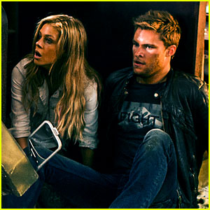 Nicola Peltz & Jack Reynor Hide from Bad Guys in 'Transformers: Age of Extinction' Exclusive Stills!