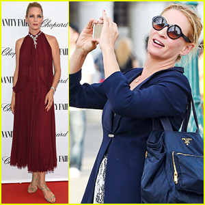 Uma Thurman Celebrates the Studios at Backstage at Cinecitta