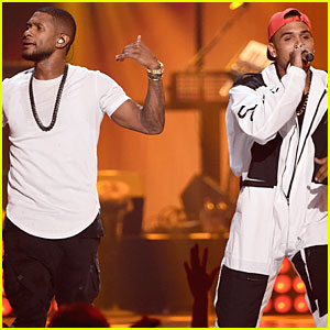 Usher & Chris Brown Join Forces For 'New Flame' at iHeartRadio Music Festival 2014!